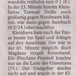 Spielbericht 24. Spieltag Regionalklasse Staffel 5 2011/2012