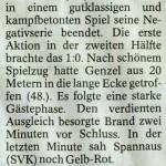 Spielbericht 23. Spieltag Kreisliga Nordhausen 2012/2013