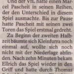 Spielbericht 1.Spieltag Kreisliga Nordhausen 2013/2014