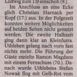 Spielbericht 3.Spieltag Kreisliga Nordhausen 2013/2014