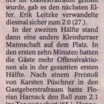 Spielbericht 5. Spieltag Kreisliga Nordhausen 2013/2014