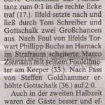 Spielbericht 6. Spieltag Kreisliga Nordhausen 2013/2014