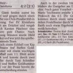 Spielbericht 19. Spieltag Kreisliga Nordhausen 2013/2014