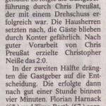 Spielbericht 20. Spieltag Kreisliga Nordhausen 2013/2014