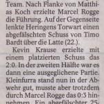 Spielbericht 21. Spieltag Kreisliga Nordhausen 2013/2014