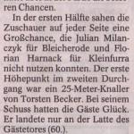Spielbericht 23. Spieltag Kreisliga Nordhausen 2013/2014