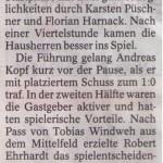 Spielbericht 24. Spieltag Kreisliga Nordhausen 2013/2014