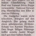 Spielbericht 25. Spieltag Kreisliga Nordhausen 2013/2014
