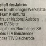 TA, Lokalsport Nordhausen vom 28.12.2015